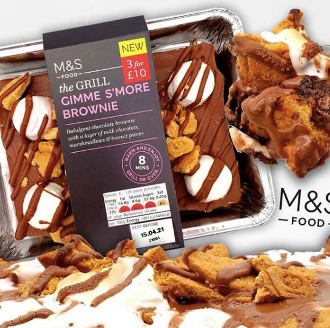 The tasty new treat is available in stores now (Credit: Instagram: @marksandspencerfoodPR/ @sweetreviewsuk)