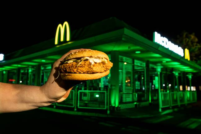 Wolverhampton was lit up green for stomaching the spice (Credit: McDonalds)