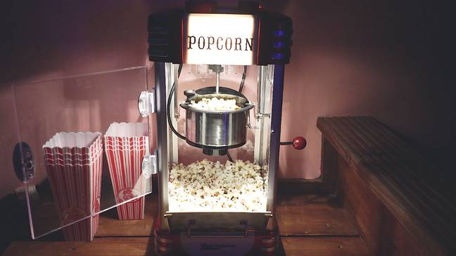 The space includes a home cinema and pop corn machine (Credit: Copper and Blossom)