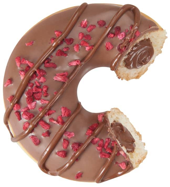 Each doughnut is filled with Nutella (Credit: Krispy Kreme/Nutella)