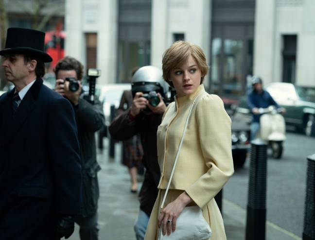 Emma Corrin played the late Princess Diana in season 4 (Credit: Netflix)