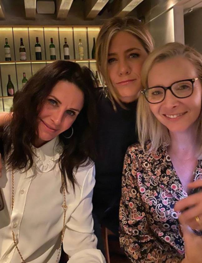 Jennifer Aniston shared a pic with co-stars Courtney Cox and Lisa Kudrow in January (Credit: Instagram/Jennifer Aniston)