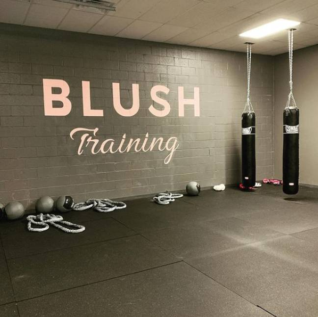 The gym is women-only and is located in Kansas (Credit: Blush Fitness/Instagram)