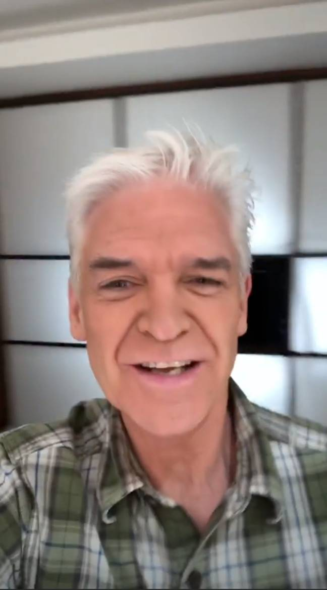 Phillip Schofield told fans he'd done his own makeup (Credit: Instagram/ Phillip Schofield)