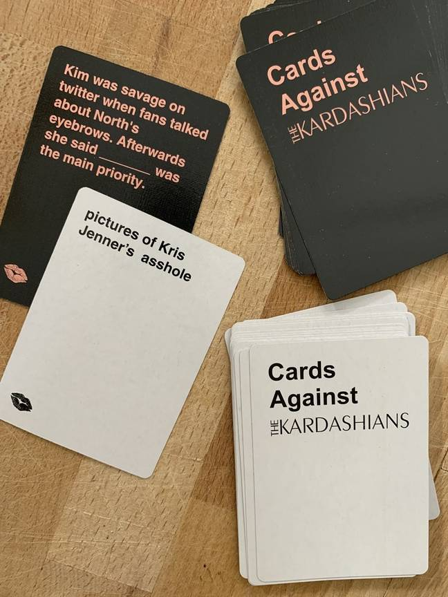 The cards are packed with risque Kardashian references (Credit: Cards Against Kardashian)