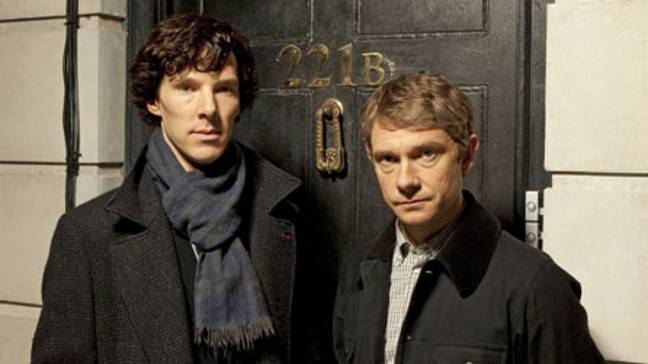 Benedict Cumberbatch and Martin Freeman as Holmes and Watson in the BBC remake. Credit: BBC