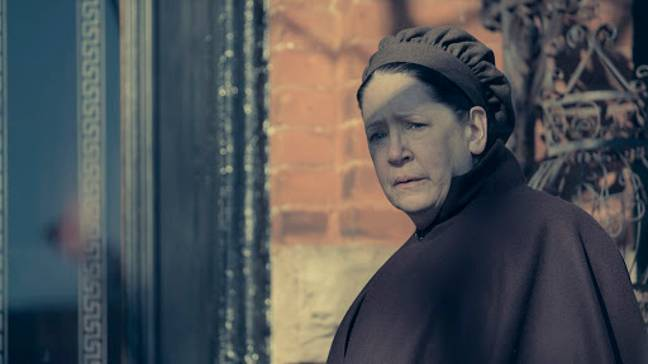 Aunt Lydia and Fred are worried about June in the new series (Credit: Hulu)