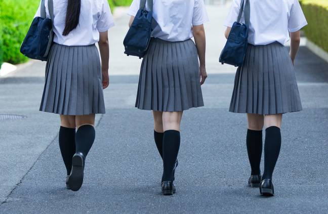 Girls reported being slut shamed over the length of their skirts (Credit: Shutterstock)