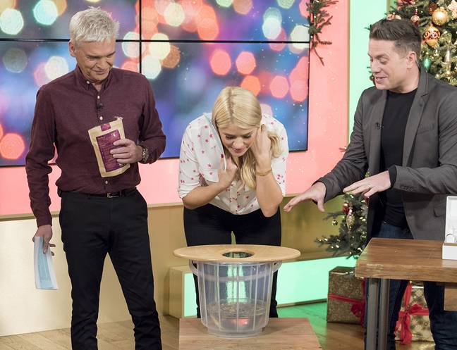 This Morning hosts Holly and Phil discuss the benefits of vaginal steaming (Credit: ITV)