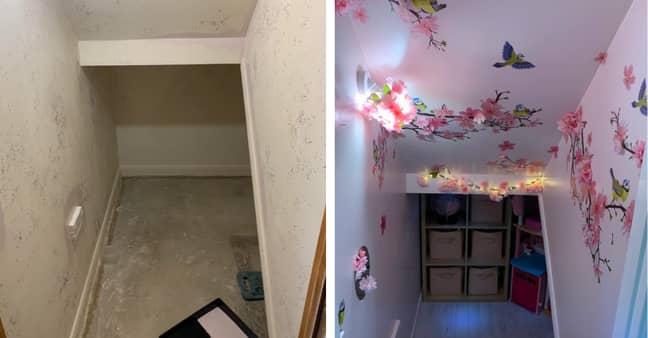 The cupboard looks unrecognisable (Credit: Handout/ Rachel Moore)