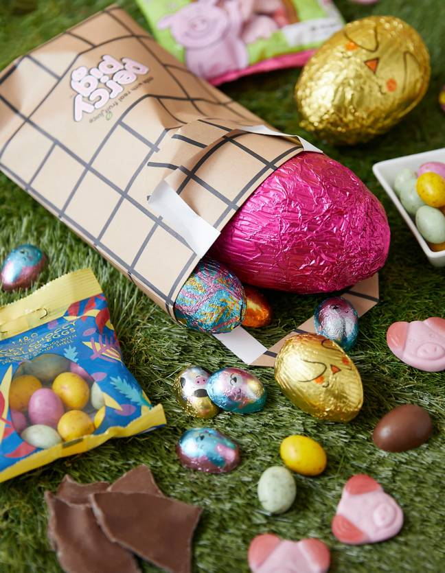 The Easter hunt kit also comes with a special Percy Pig gift bag (Credit: Marks & Spencer)