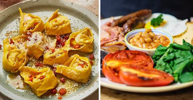 The tortellini is flavoured like a Full English breakfast (Credit: Pasta Evangelists)