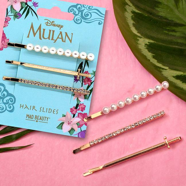 Superdrug's new Mulan range includes hair clips (Credit: Superdrug)