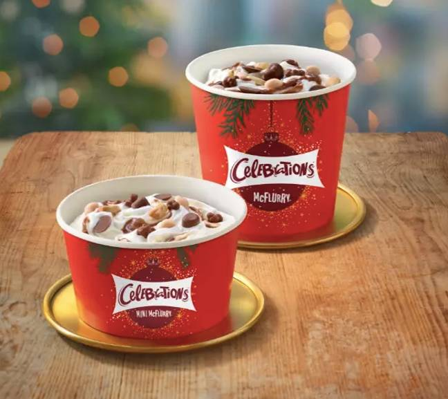 You can get your hands on a Celebrations McFlurry (Credit: McDonald's)