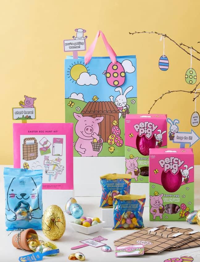 Marks and Spencer is selling a Percy Pig Easter egg hunt kit (Credit: Marks & Spencer)
