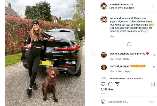 Annabel Dimmock is also an influencer. She has a large following on Instagram. (Credit: Instagram/@annabeldimmock)