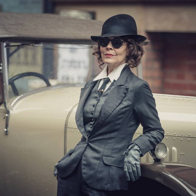 Helen played the fearsome Polly in the gangster series (Credit: BBC)
