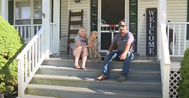The Colton family found Cleo on their porch (Credit: KMBC)