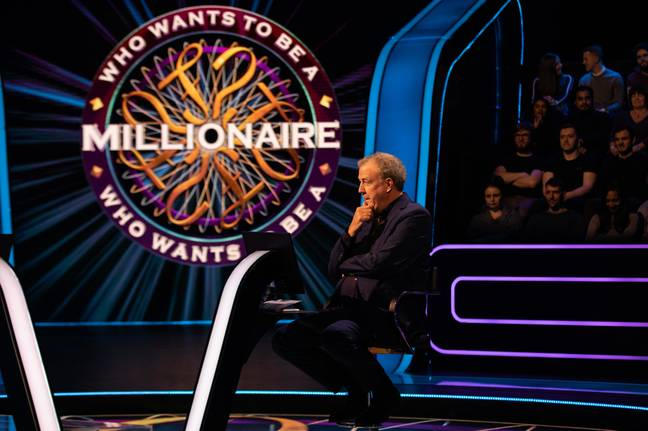 "Host Jeremy Clarkson reminded Andrew he was the ""sixth person ever"" to face the jackpot question (Credit: ITV)"