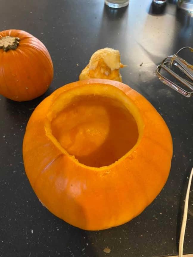 Voila, a completely clear pumpkin! (Credit: Deadline)