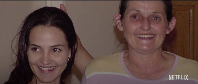 Belinda Lane and her daughter, Crystal Theobald, who was murdered by a gang in 2006 (Credit: Netflix)