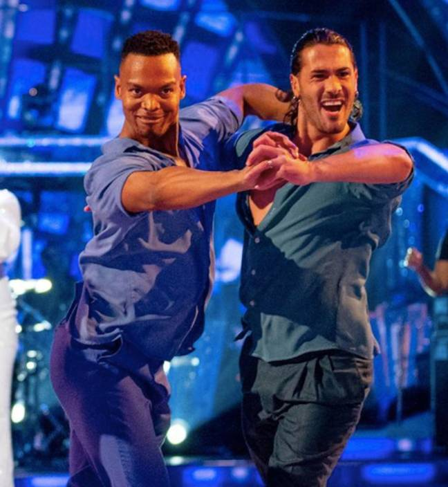 Strictly's Johannes and Graziano are the first males to dance a whole routine together (Credit: BBC)