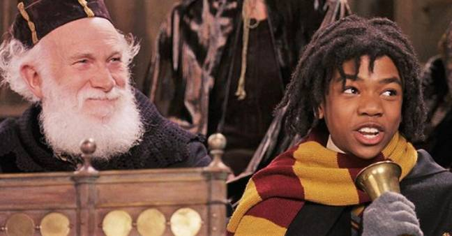 Tom's granddad can be seen next to Lee Jordan (Credit: Warner Bros)