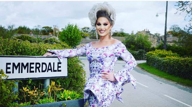 The Vivienne is appearing in ITV Emmerdale to for the first Pride celebration on the show (Credit: Twitter/THEVIVIENNEUK)