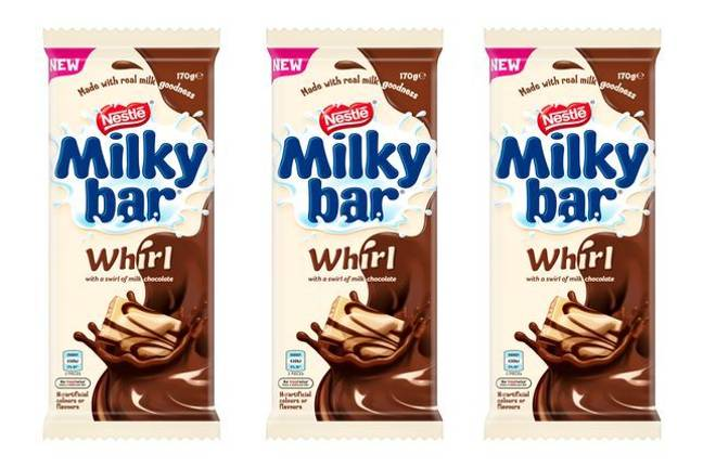 You can also get a Milkybar with milk chocolate swirls (Credit: B&M)