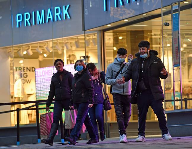 People did their Christmas shopping early this morning (Credit: PA)