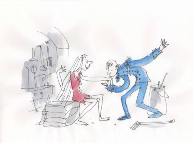 Quentin Blake will be illustrating the panto (Credit: BBC)