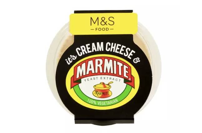 You can also get Marmite cream cheese (Credit: M&S)