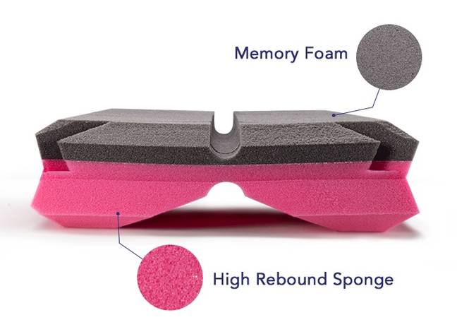 The pillow is made from two different materials (Credit: Matrix Pillow/Indiegogo)