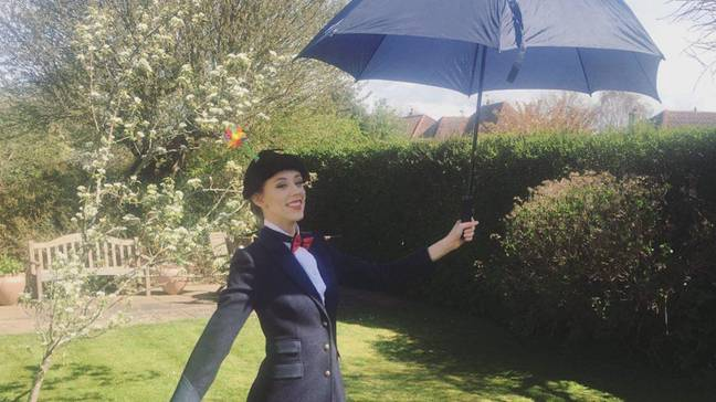 She also dressed as Mary Poppins (Credit:SWNS)