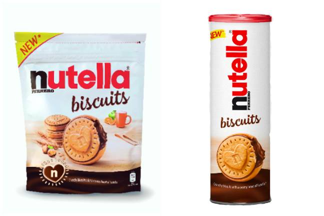 The biscuits come in tubes or pouches (Credit: Nutella)