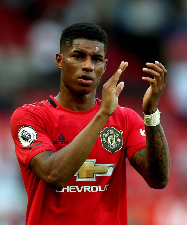 Manchester United footballer Marcus Rashford has been heading up a campaign to extend free school meal vouchers (Credit: PA)