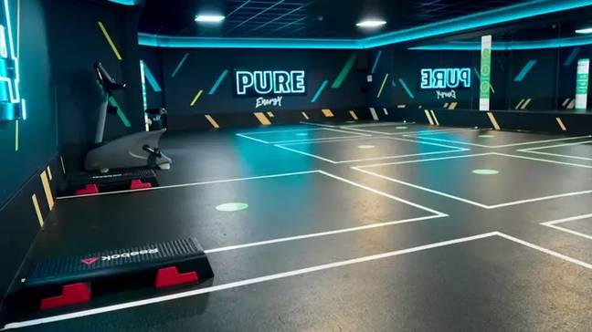There will be marked out spaces on the floor (Credit: PureGym)