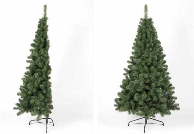 The 5ft Italian designed Arbor Vitae Fir Half Tree costs £35.99 (Credit: Christmas Tree World)