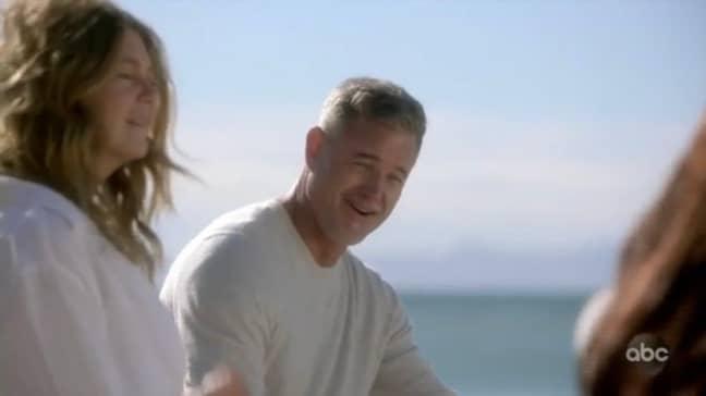 Mark arrived on the beach too (Credit: ABC)