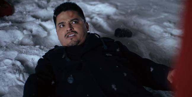 Rico suffers a rock to the face in 'Christmas Break-In'. (Credit: Koan)