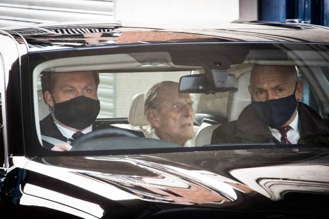 Prince Philip leaves hospital on Tuesday morning (Credit: PA)