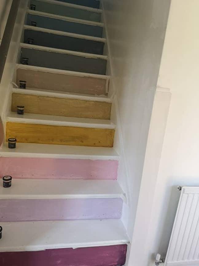 She painted each step individually Credit: Melissa Jade Ewers