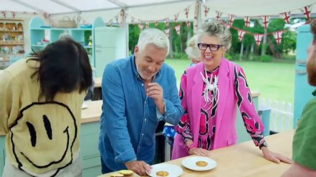 Prue Leith has always had a cheeky streak... (Credit: Channel 4)