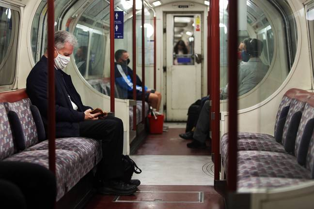 People are not going to sit next to anybody on the tube anymore (Credit: PA)