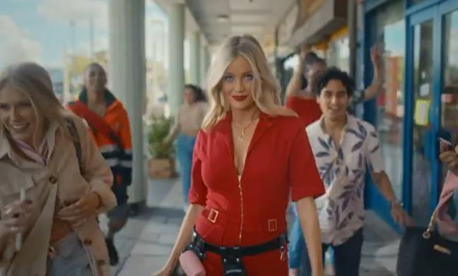 Laura looks incredible in her red jumpsuit in the first trailer for Love Island 2021 (Credit: ITV)