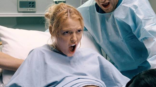 Some women don't feel labour pains (Credit: Knocked Up/ Universal Pictures)