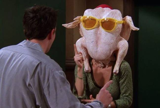 Here's to hoping we get Monica's turkey recipe (Credit: Warner Bros)