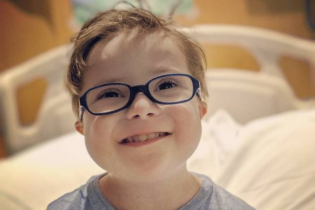 Hyrum Harris has acute lymphoblastic leukemia complicated by Down's syndrome (Credit: GoFundMe)