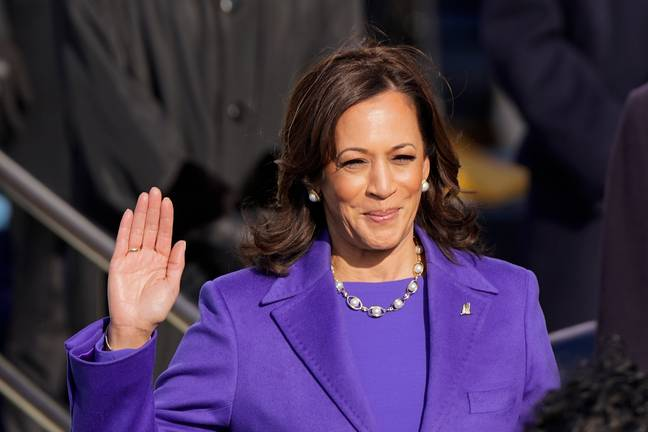 Kamala Harris was sworn in as vice president by Supreme Court Justice Sonia Sotomayor on Wednesday (Credit: PA)