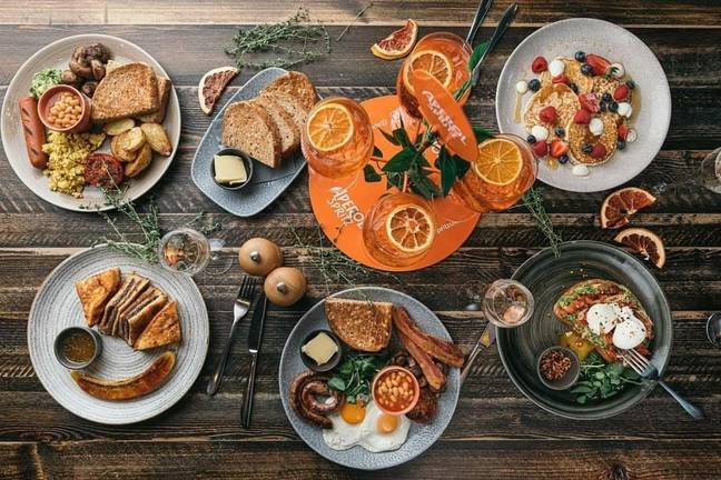 The booze comes alongside a delicious menu of brunch options (Credit: The Botanist)